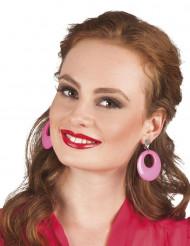 Roze fluo oorbellen voor volwassenen