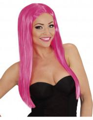 Roze glamour pruik voor dames