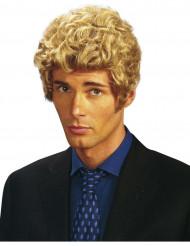 Blond gekrulde pruik voor heren