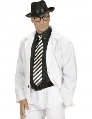 Zwart-witte stropdas voor volwassenen