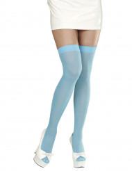 Licht blauwe kousen voor dames