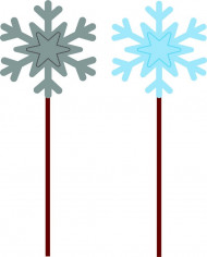12 sneeuwvlok prikkers voor kerst