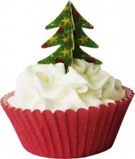 12 3D dennenbomen kerstdecoraties