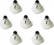 7 mini kerst sneeuwpoppen 1,5 cm