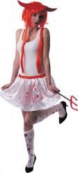 Bloederig witte rok voor dames Halloween