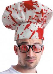 Bebloed koksmuts voor volwassenen Halloween