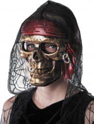 Piraten doodskop masker voor volwassenen