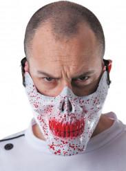 Bloederige doodskop halfmasker voor volwassenen