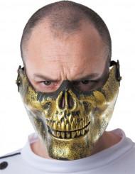 Goudkleurig doodskop half masker voor volwassenen