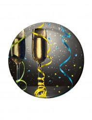 Set kleine borden New Year Champagne