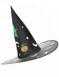 Heksen hoed met Halloween afbeeldingen