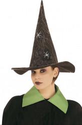 Heksen hoed met fosforescerende spinnen Halloween