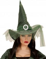 Groen heksen hoed voor vrouwen