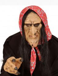 Oude heks halfmasker voor volwassenen