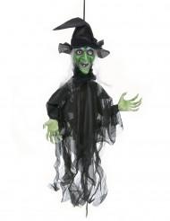 Halloween decoratie bewegende heks met licht en geluid