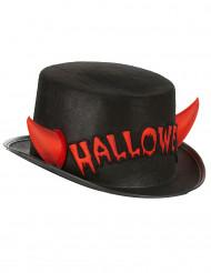 Halloween hoed met hoorntjes voor volwassenen