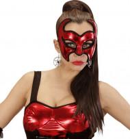 Duivelse rode masker voor dames Halloween