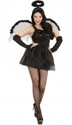 Zwarte engel Halloween kostuum voor vrouwen