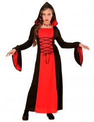 Gravin kostuum rood met zwart voor meisjes