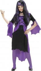 Paarse vampier kostuum voor meisjes Halloween