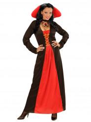 Gravin kostuum met grote kraag voor vrouwen
