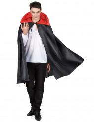 Zwarte cape met rode kraag Halloween