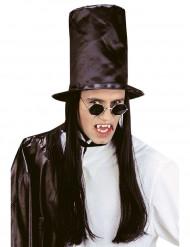 Hoge hoed met pruik voor volwassenen Halloween