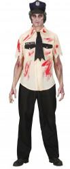 Zombie politie agent Halloween kostuum voor mannen