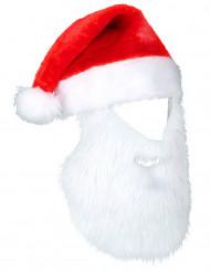 Kerstman muts met baard voor volwassenen