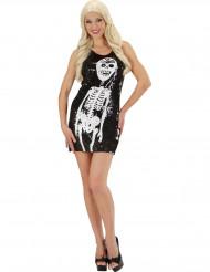 Skeletten masker met glitters voor vrouwen Halloween