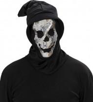 Skeletten cape met lovertjes voor volwassenen Halloween