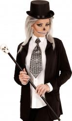 Doodshoofden stropdas voor volwassenen