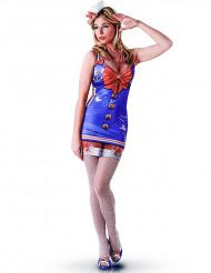 Sexy matrozen kostuum met print voor dames