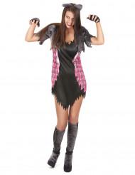 Gekarteld weerwolf kostuum voor vrouwen