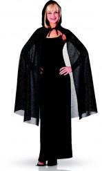 Zwarte Halloween cape voor vrouwen