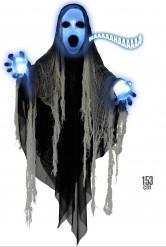 Halloween decoratie van reaper met licht en geluid
