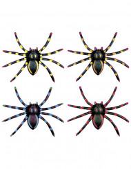 Set van fluo spinnen voor Halloween