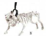 Honden skelet aan riem decoratie