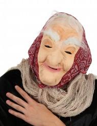 Oude heks met haren masker voor vrouwen Halloween