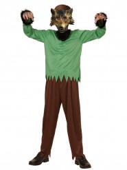 Weerwolf kostuum met masker voor kinderen