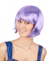 Korte paarse pruik voor dames