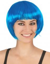 Korte blauwe aqua pruik voor vrouwen