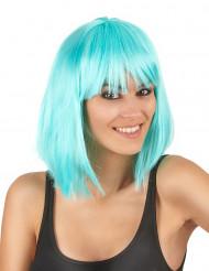 Half lange blauwe pruik voor vrouwen
