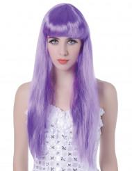 Lange licht paarse damespruik