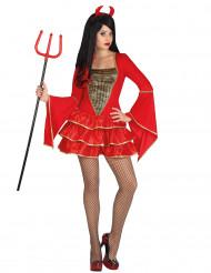 Rode duivel Halloween kostuum voor dames