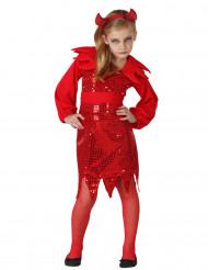 Rode duivel kostuum voor meisjes Halloween
