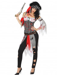 Bloederig piraten Halloween kostuum voor dames