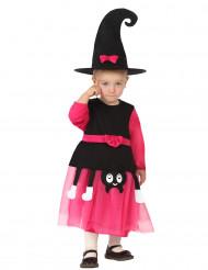 Schattig roze heksen kostuum voor baby