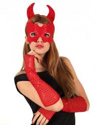 Rode duivel set Halloween