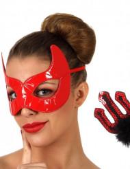 Rode duivel set voor volwassenen Halloween